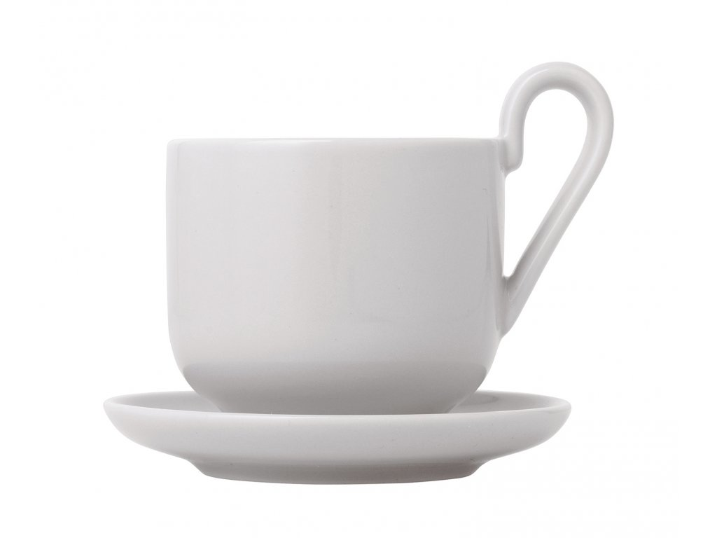 Sada šálok na espresso s podšálkami Ro Blomus svetlošedé 2 ks