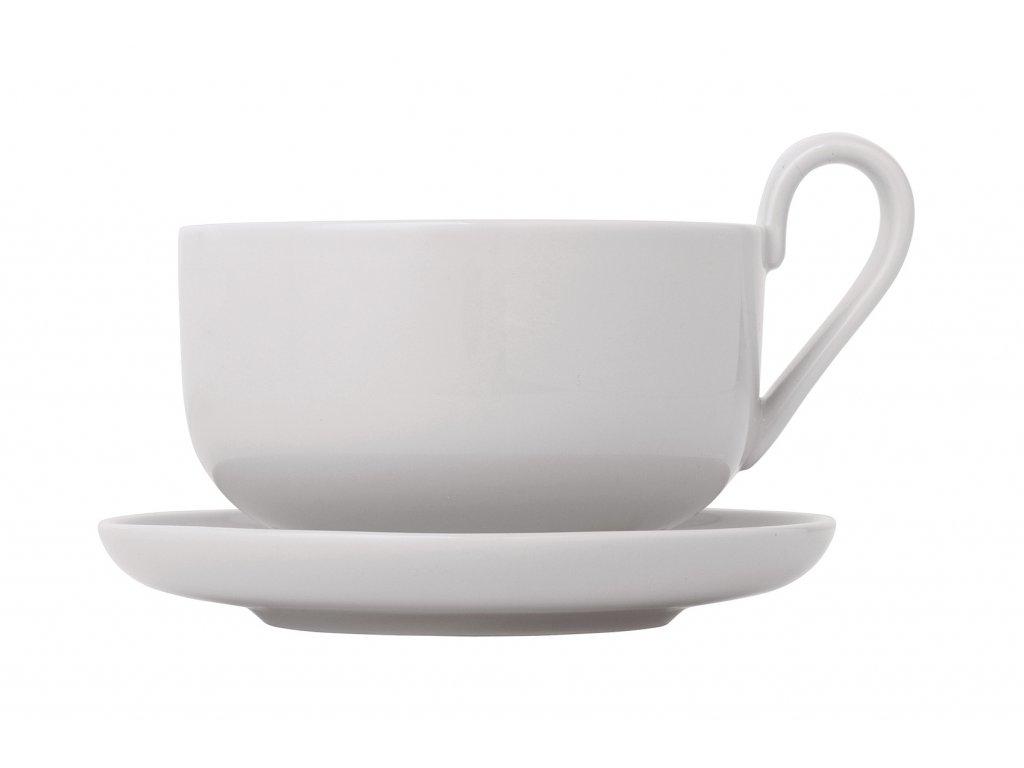 Sada šálok na čaj s podšálkami Ro Blomus svetlošedé 230 ml 2 ks
