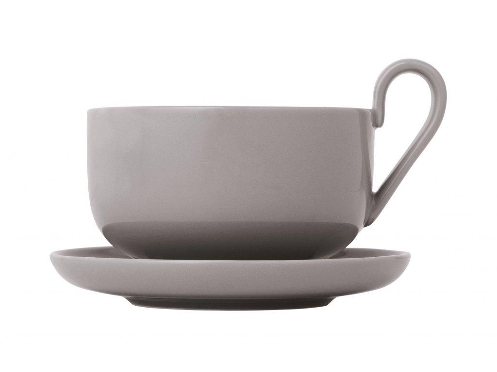Sada šálok na čaj s podšálkami Ro Blomus hrejivo šedé 230 ml 2 ks