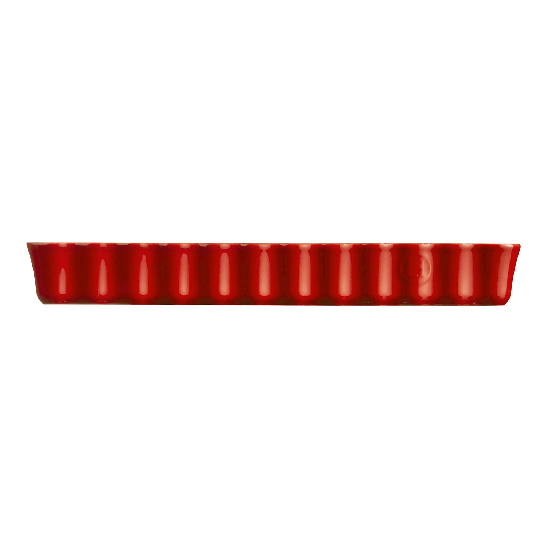 Hranatá forma na koláč Burgundy červená 15 × 36 cm Emile Henry