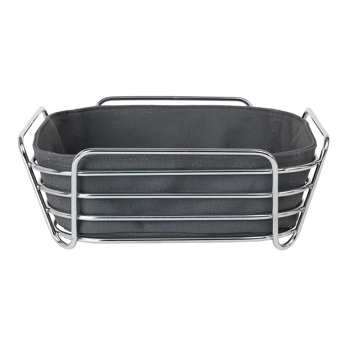 Košík na pečivo DELRA sivočierny veľký Blomus - Blomus Ošatka na pečivo Delara černá 25 cm