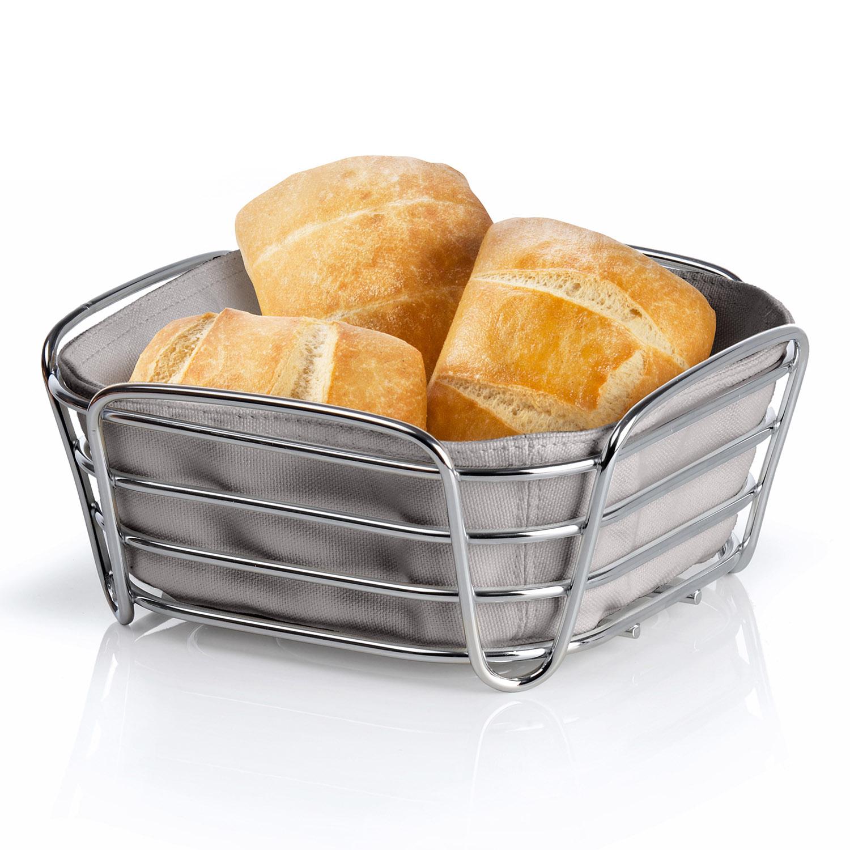 Košík na pečivo malý sivohnedý DELARA Blomus - Blomus Ošatka na pečivo Delara malá šedá