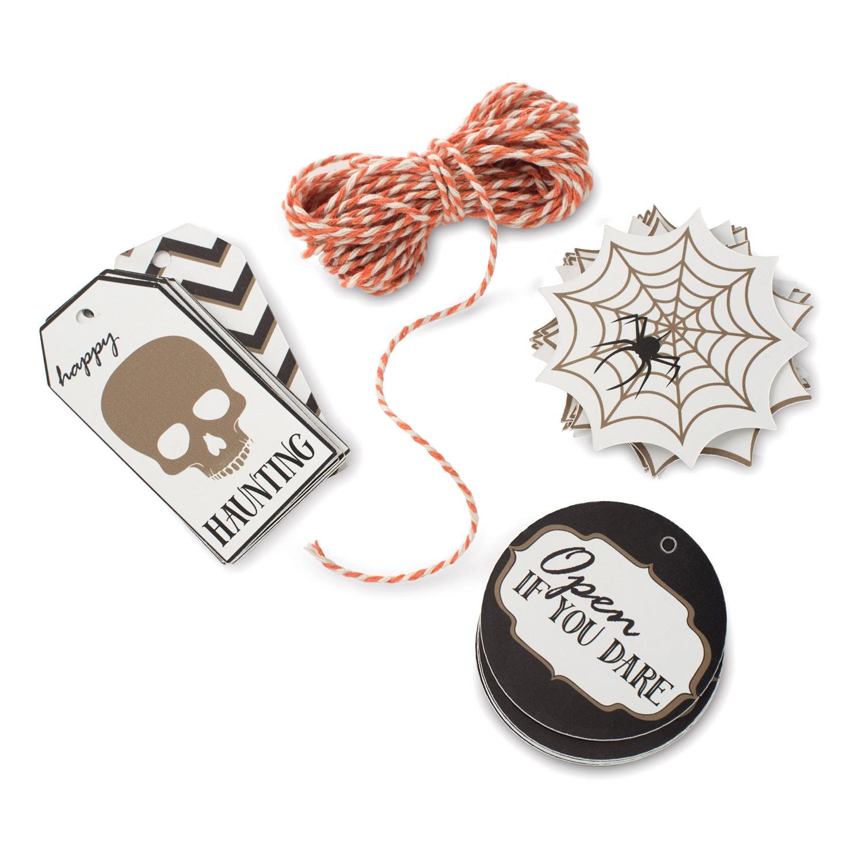 Darčekové visačky so šnúrkou Seasonally Sweet Halloween 12 kusov Nordic Ware