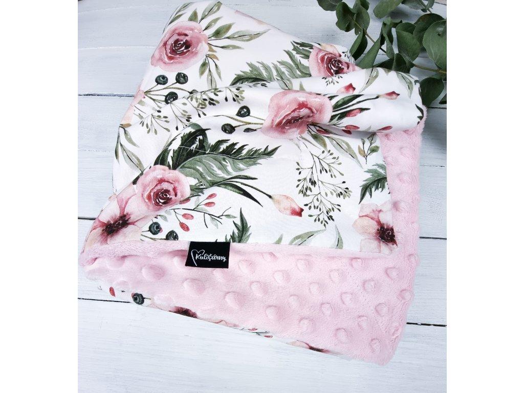 Deka RosAntic baby pink 90x75 cm