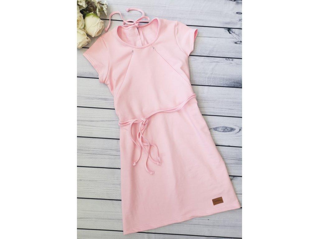 Šaty/tunika dámská ,,Baby Pink ,, kojicí