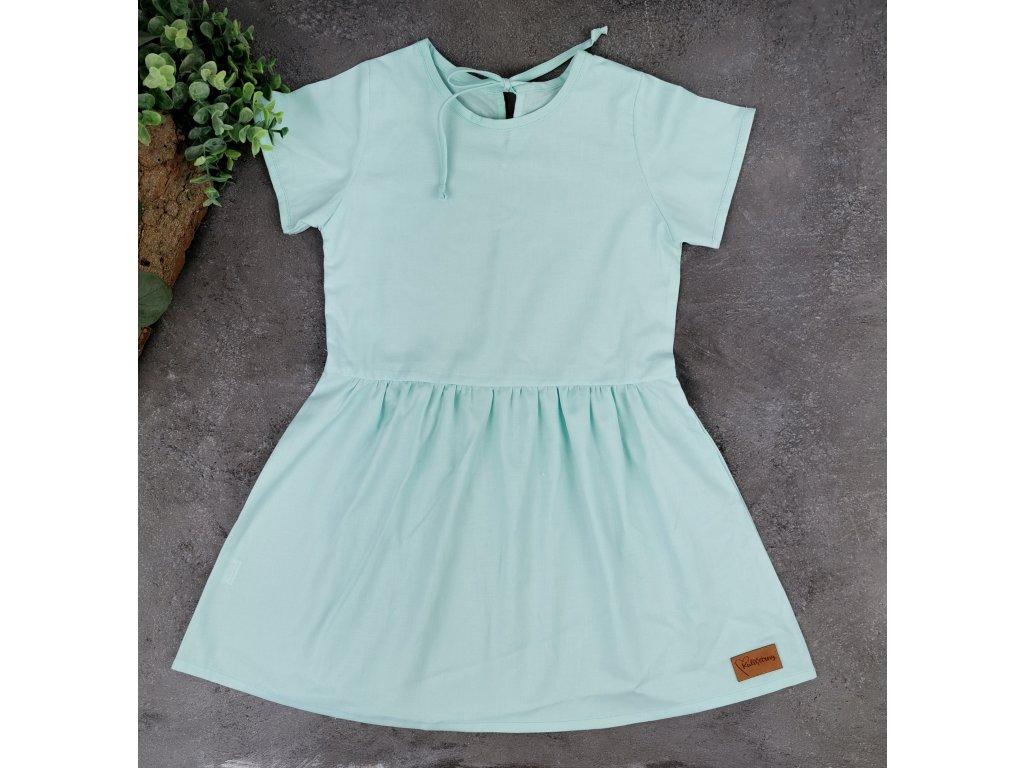 Princess šaty ,,AQUA,, plátěné