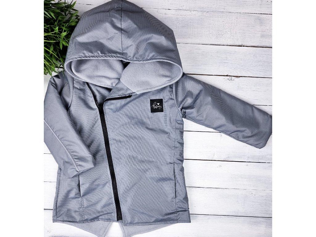 Šusťáková bunda s microfleece Grey