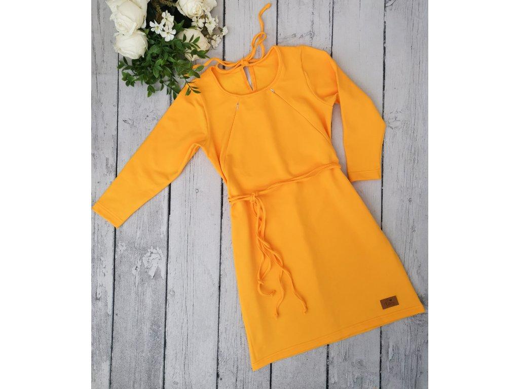 Šaty/tunika dámská ,,YOLK ,, kojicí -dlouhý rukáv