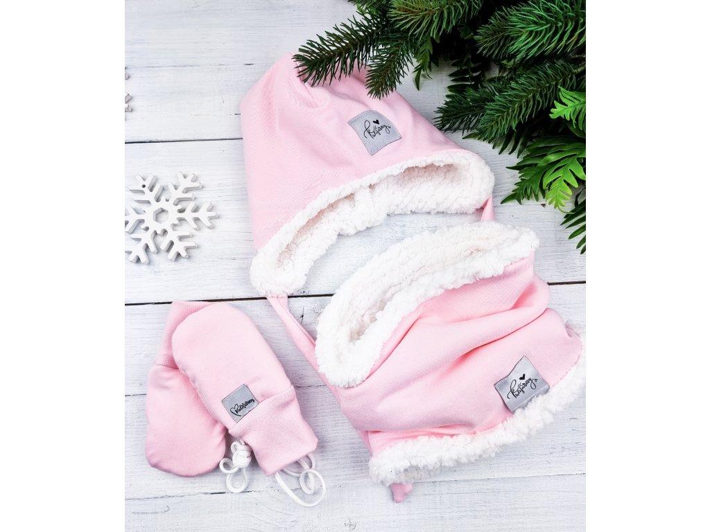 Nákrčník s beránkem ,,Baby Pink ,, White