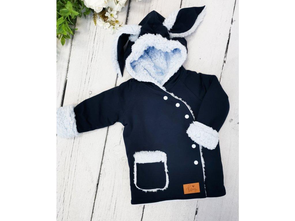 Kabátek zimní Bunny ,,Navy blue ,,