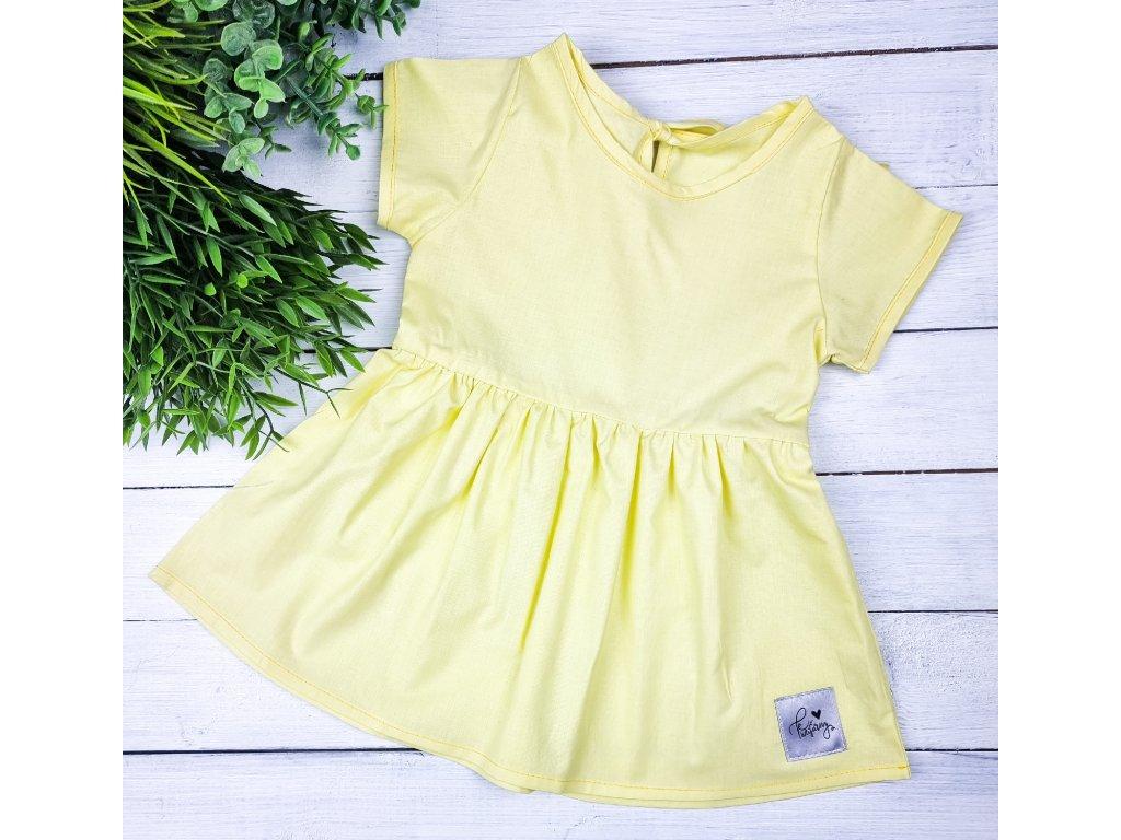 Princess šaty ,,Pastel Yellow,, plátěné
