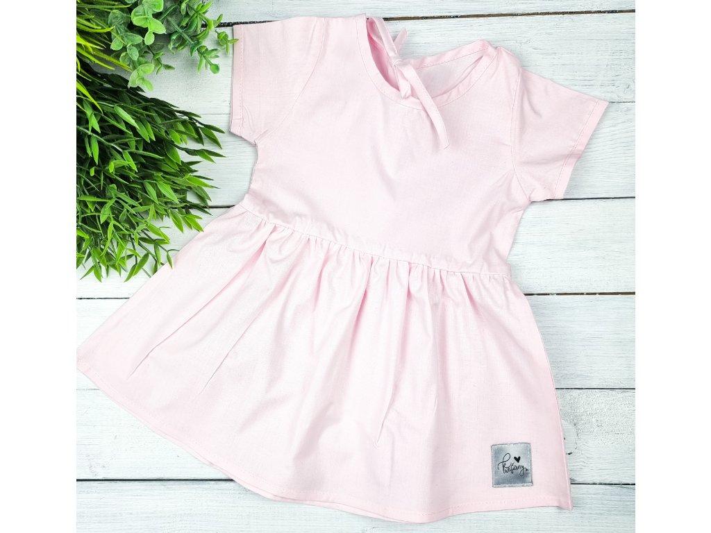 Princess šaty ,,Pastel Pink,, plátěné