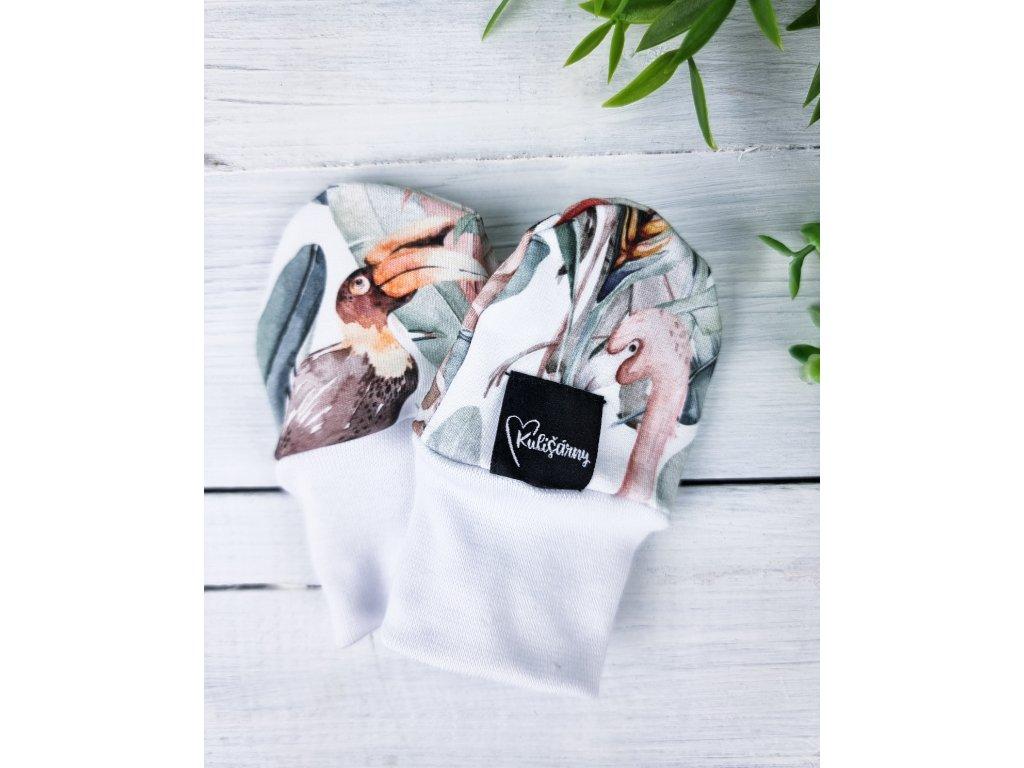 Kojenecké rukavičky proti poškrábání ,,AFRICA,, snow