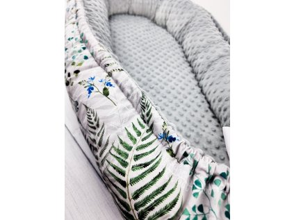 Hnízdečko pro miminko ,,Ferns,, grey