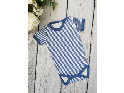Body krátký rukáv ,, blue stripes,, vel.68