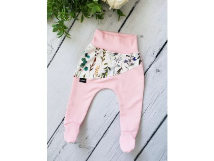 Polodupačky ,,ZINNIA,, Baby Pink silky