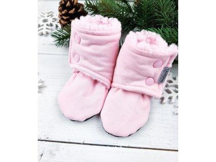 Capáčky s beránkem BABY PINK Pink