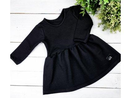 Princess šaty ,,BLACK,, dlouhý rukáv vel.74 sklad š