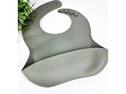 Mushie silikonový bryndáček- Olive