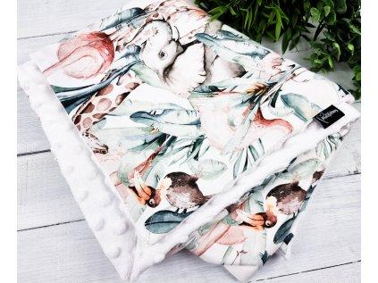 Dětská deka s minky  ,,AFRICA,,