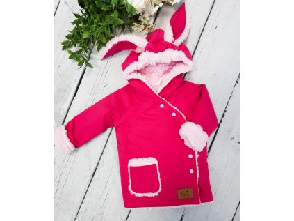 Kabátek zimní Bunny ,,Violet pink,, vel.74-80 sklad