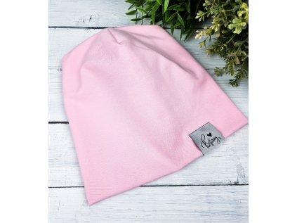 Čepička ,,Baby pink,, jednovrstvá vel.50,68,74,122 sklad