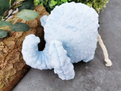 Minky sloník ,,baby blue,,