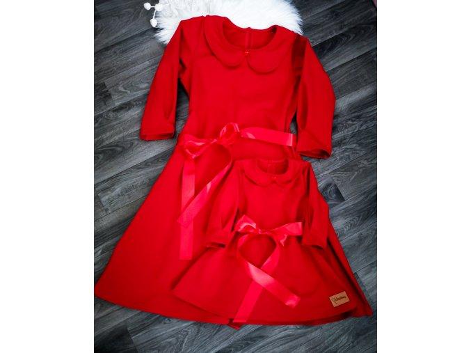 Šaty s límečkem ,,RED,, vel.36,46 SKLAD