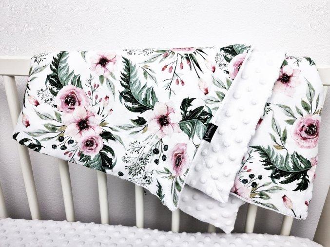 Deka RosAntic White 90x75 cm