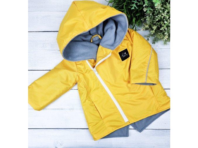 Šusťáková bunda s microfleece Sunny Grey