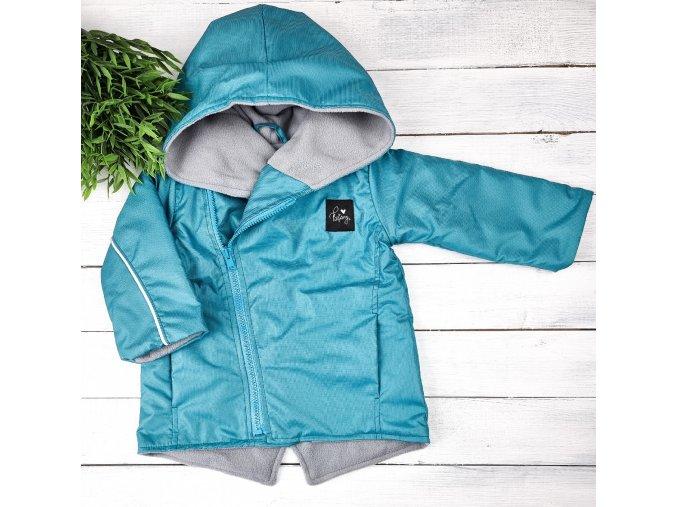 Šusťáková bunda s microfleece Hyacint grey