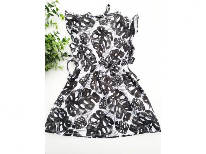 Letní šaty ,,Black Leaf,,