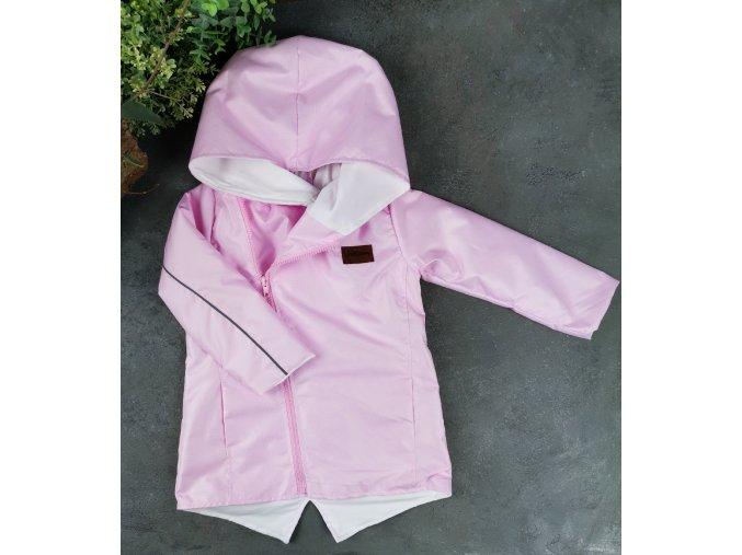 Šusťáková bunda jaro/léto baby pink