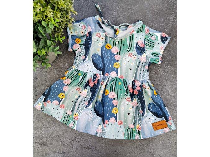Princess šaty ,,CACTUS,, plátěné