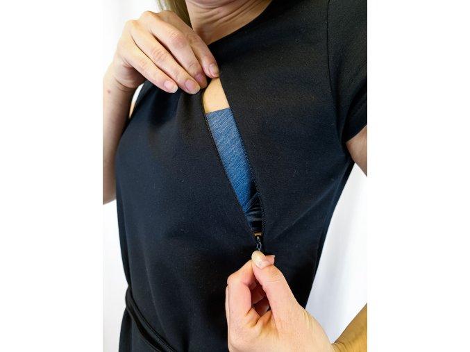 Šaty/tunika dámská ,,Black,, kojicí