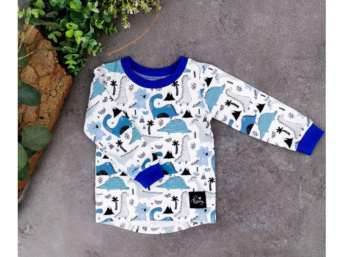 Tričko ,,Dino,, Blue dlouhý rukáv