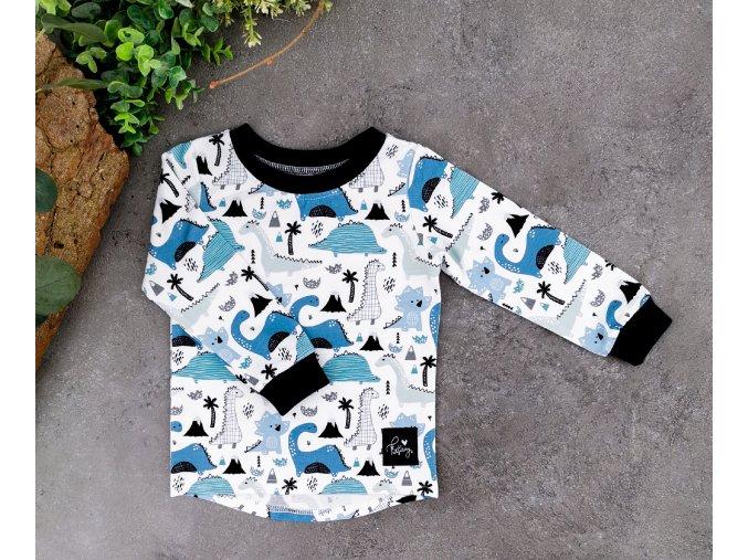Tričko ,,Dino,, navy Blue dlouhý rukáv