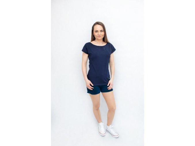 Dámské kojicí tričko ,,Navy,,