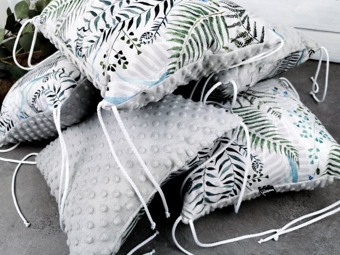 Polštářkový mantinel ,, Ferns Grey ,, 1ks