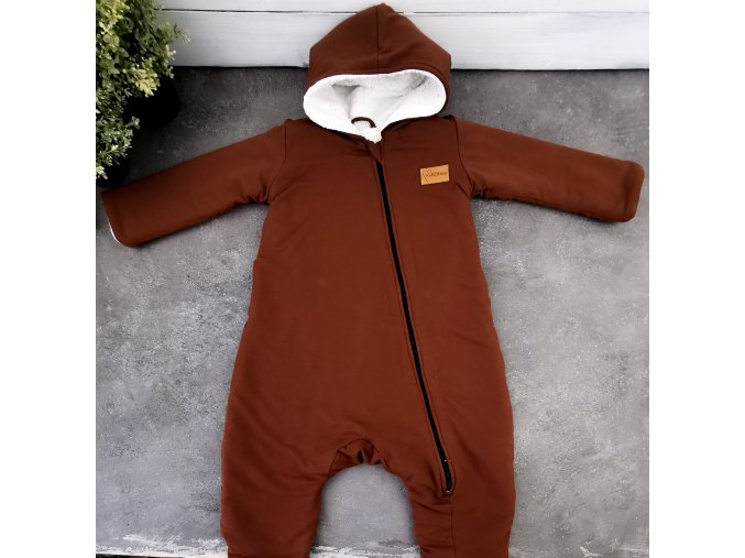 "Overal ""Brown,, s microfleece White"