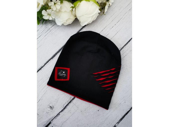 Čepice rebel ,,Black ,, RED