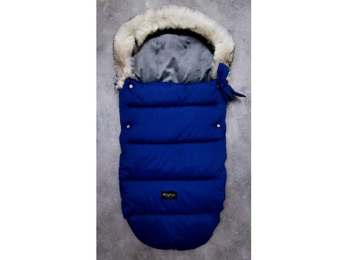 King Blue Zimní fusak 4 v 1 s kožešinkou a mašličkou