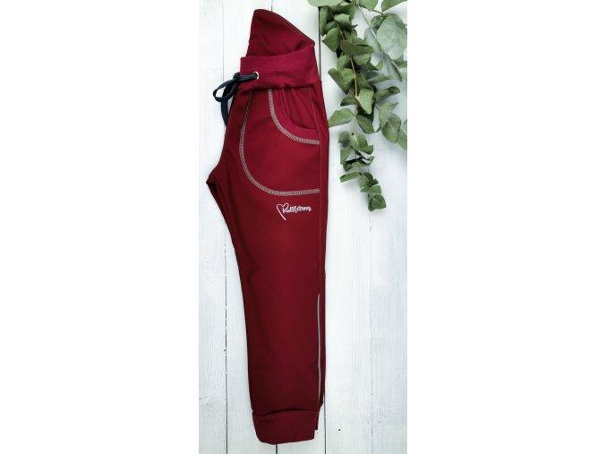 Softshell kalhoty ,,Bordó,, s fleecem