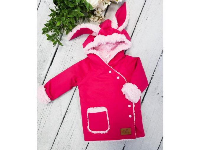 Kabátek zimní Bunny ,,Violet pink,,
