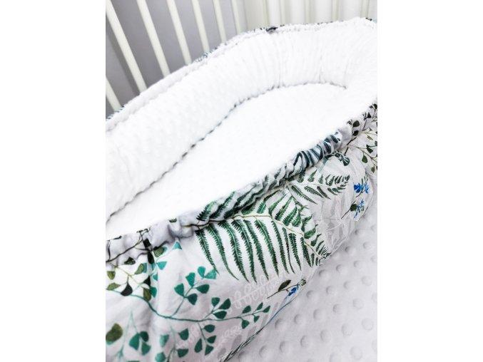 Hnízdečko pro miminko ,,Ferns,, white