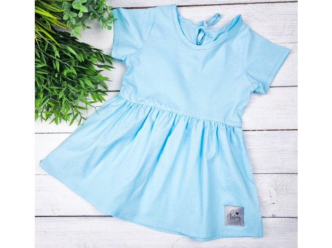 Princess šaty ,,Pastel Blue,, plátěné