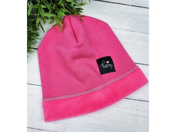 Zateplená čepice ,,Pink,,