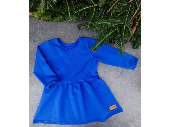PRINCESS ŠATY blue /dlouhý rukáv