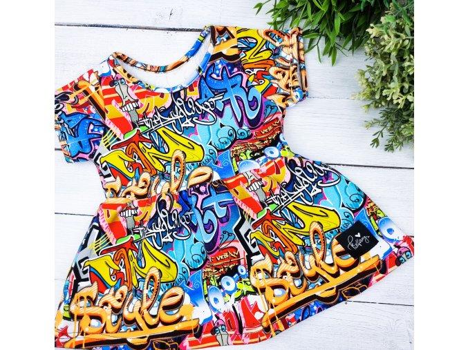 Princess šaty ,,GRAFFITI,,