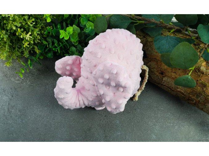 Minky sloník ,,baby pink,,